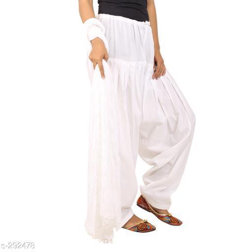 Ethnic Bottomwear - Patiala Pants Stylish Cotton Patiala Pant  *Fabric* Patiala Salwar- Cotton , Dupatta - Cotton   *Size* Patiala Salwar - Up 28 in To 36 in, Dupatta - 2.25 Mtr   *Length* Patiala Salwar - Up To  42 in   *Type* Stitched   *Description* It Has 1 Piece Of Patiala Salwar & 1 Piece Of Dupatta   *Work* Solid  *Sizes Available* Free Size *    Catalog Name: Solid Cotton Patiala Pants Vol 1  CatalogID_30659 C74-SC1018 Code: 893-292478-