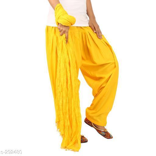 Ethnic Bottomwear - Patiala Pants Stylish Cotton Patiala Pant  *Fabric* Patiala Salwar- Cotton , Dupatta - Cotton   *Size* Patiala Salwar - Up 28 in To 36 in, Dupatta - 2.25 Mtr   *Length* Patiala Salwar - Up To  42 in   *Type* Stitched   *Description* It Has 1 Piece Of Patiala Salwar & 1 Piece Of Dupatta   *Work* Solid  *Sizes Available* Free Size *    Catalog Name: Solid Cotton Patiala Pants Vol 1  CatalogID_30659 C74-SC1018 Code: 893-292480-