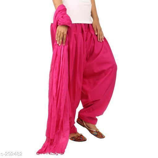 Ethnic Bottomwear - Patiala Pants Stylish Cotton Patiala Pant  *Fabric* Patiala Salwar- Cotton , Dupatta - Cotton   *Size* Patiala Salwar - Up 28 in To 36 in, Dupatta - 2.25 Mtr   *Length* Patiala Salwar - Up To  42 in   *Type* Stitched   *Description* It Has 1 Piece Of Patiala Salwar & 1 Piece Of Dupatta   *Work* Solid  *Sizes Available* Free Size *    Catalog Name: Solid Cotton Patiala Pants Vol 1  CatalogID_30659 C74-SC1018 Code: 893-292482-