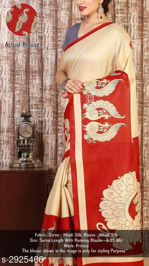Fashion Khadi Silk Women's Printed Saree