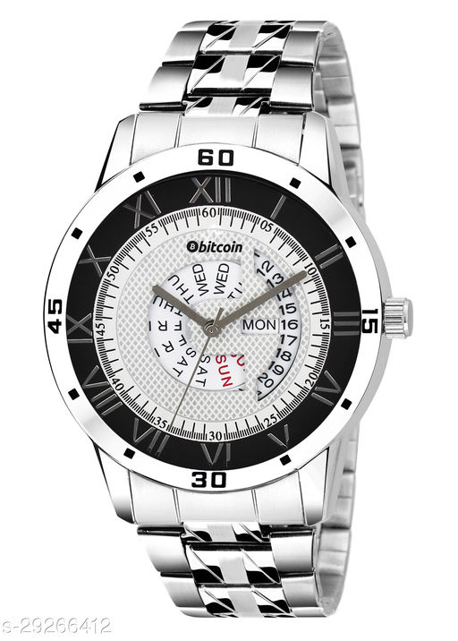 BITCOIN Wrist Watch For Men With Day & Date Indicator