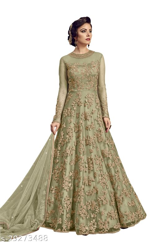 W Ethnic Designer Anakali Salwar Suit Gown For Womens And Girls