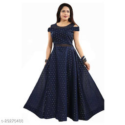 butti max blue gown