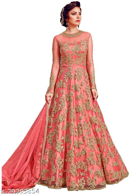 JINIMART Designer Anakali Salwar Suit Gown For Womens And Girls