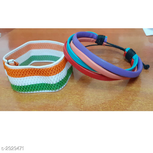 Jewellery Leather Wrist Bands (Pack Of 2)  *Material * Leather  *Size* Free Size  *Description* It Has 2 Pieces Of Wrist Band  *Sizes Available* Free Size *    Catalog Name: Handcrafted Leather Wrist Bands Combo Vol 2 CatalogID_399066 C65-SC1227 Code: 131-2929471-