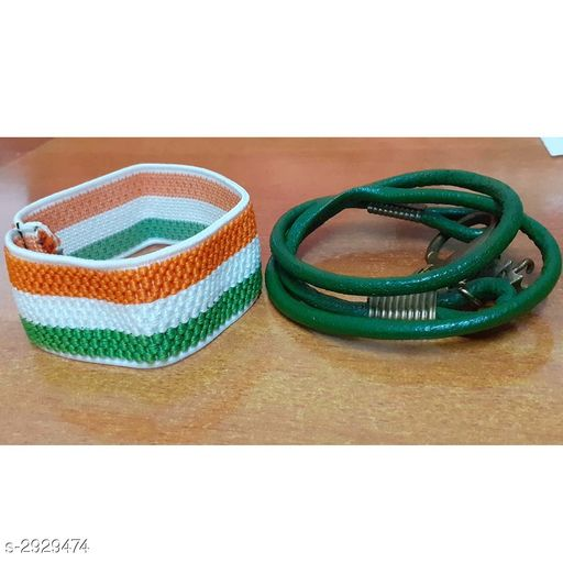 Jewellery Leather Wrist Bands (Pack Of 2)  *Material * Leather  *Size* Free Size  *Description* It Has 2 Pieces Of Wrist Band  *Sizes Available* Free Size *    Catalog Name: Handcrafted Leather Wrist Bands Combo Vol 2 CatalogID_399066 C65-SC1227 Code: 131-2929474-