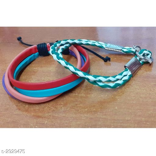 Jewellery Leather Wrist Bands (Pack Of 2)  *Material * Leather  *Size* Free Size  *Description* It Has 2 Pieces Of Wrist Band  *Sizes Available* Free Size *    Catalog Name: Handcrafted Leather Wrist Bands Combo Vol 2 CatalogID_399066 C65-SC1227 Code: 131-2929475-