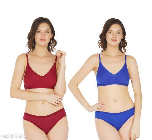 Women Bikini Multicolor Cotton Panty (Pack of 2)