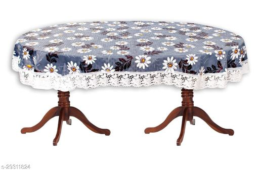 PVC Printed 6 Seater Oval Dining Table Cover(Size-54x78 Inches Oval.) Design-4