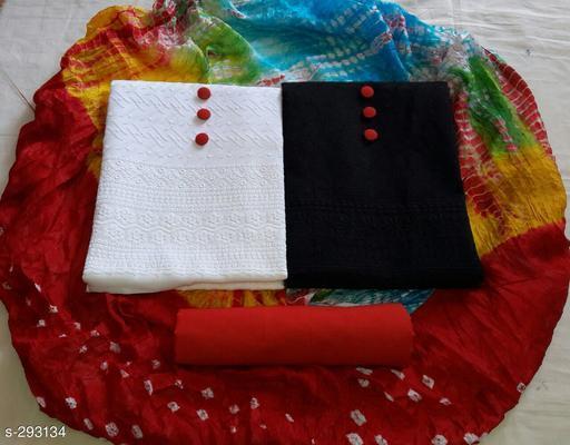 Stylish Cotton Chikankari Work Suit