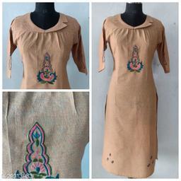 Sale!!!!!!!!!Cotton Straight Embroidered Kurta