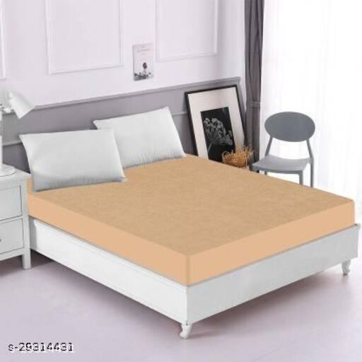 Best Quality Waterproof Stretchable Terry Cotton Mattress Protector (Size: 36*72)