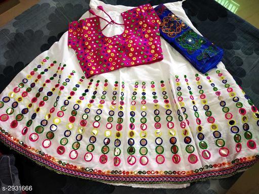Partywear Cotton Blend Women's Lehenga