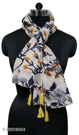 Fancy Printed scarf with tassels