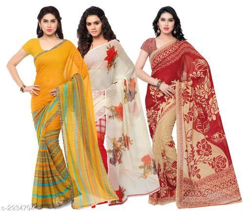 Trendy Georgette Women's Sarees