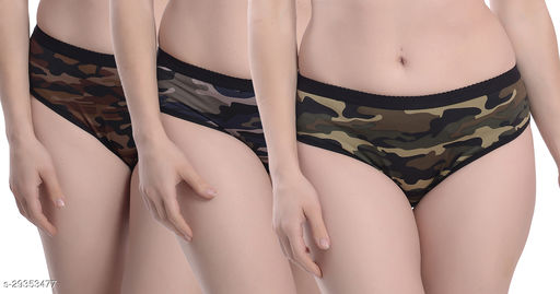 Women Hipster Multicolor Polyester Panty (Pack of 3)