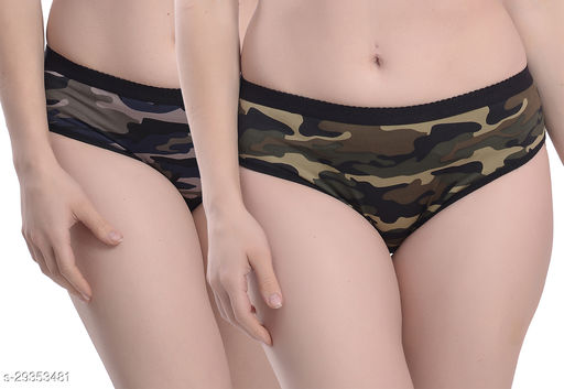 Women Hipster Multicolor Polyester Panty (Pack of 2)