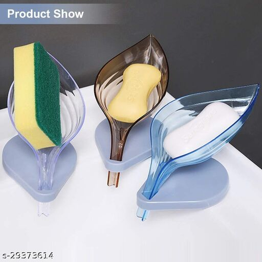 Designer Soap Stand(Pack of 3, multicolour)