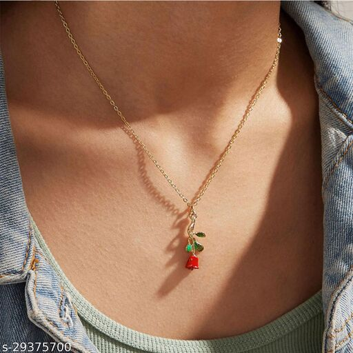 Stylish Rose Necklace for Women and Girls