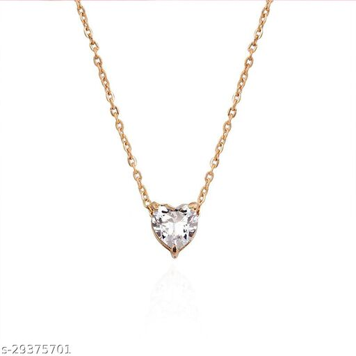 Stylish Golden Heart Necklace for Women and Girls