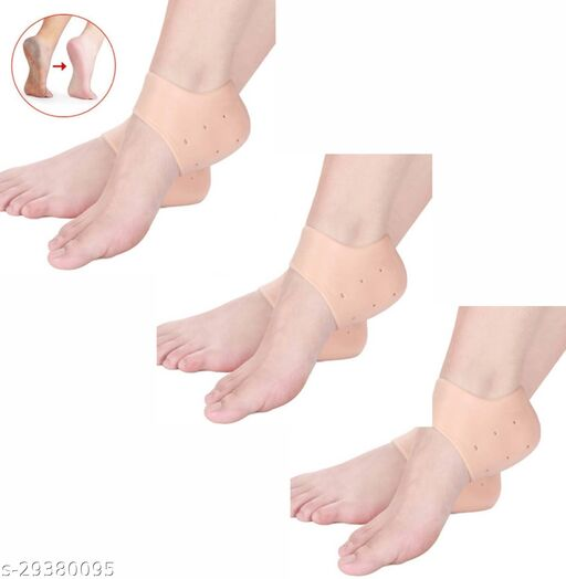 keddy nti Crack Full Length Silicon Moisturizing Heel Pads Heel Socks Pain Relief Heel Cracks Foot Care Protector Pedicure Support for Men and Women Unisex