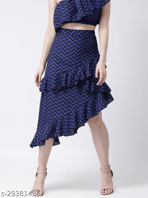 Violet A-line Frill Skirt