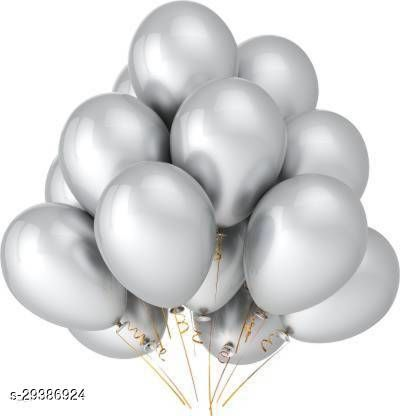 Life long Solid Solid Happy Birthday Foil Black Set with 30 HD Metallic Balloons Black Silver Kit with 2 Silver Star 2 Black Star Balloon  (Multicolor, Pack of 47)