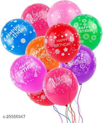 Life long Just Flowers Printed Happy Birthday Multicolored Balloons - Pack of 25 Balloon(Multicolor, Pack of 25)