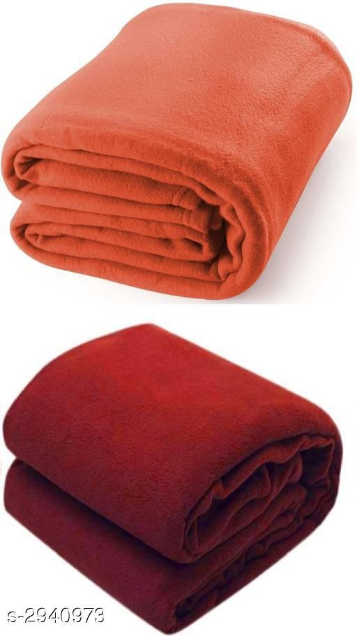 Comfy Polyester Double Bed Blankets Combo