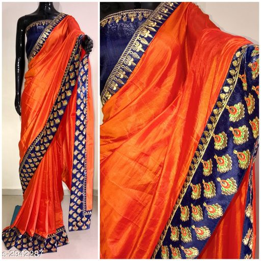 Beautiful Two Tone Sana Silk Women's Saree