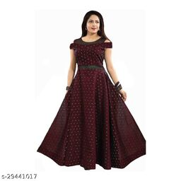 butti max maroon Gown