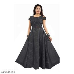 butti max grey Gown