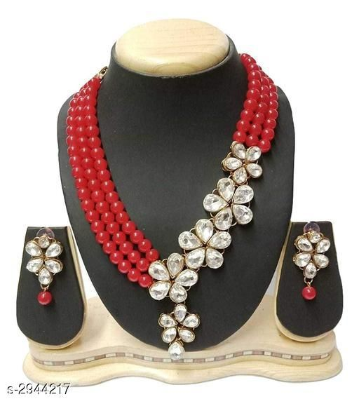 Jewellery Set Elegant Party Wear Alloy Women's Jewellery Set  *Material* Alloy  *Size* Free Size  *Description* It Has 1 Piece Of Chokar Necklace & 1 Pair Of Earring  *Work* Embellished  *Sizes Available* Free Size *    Catalog Name: Diya Elegant Party Wear Alloy Women's Jewellery Sets Vol 5 CatalogID_401221 C77-SC1093 Code: 654-2944217-