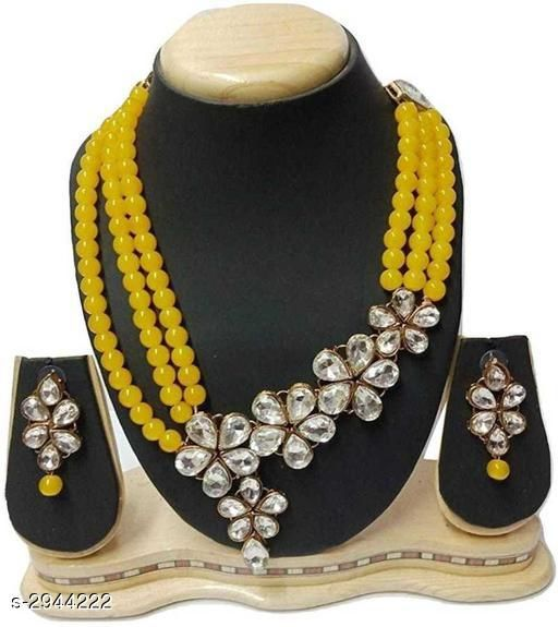 Jewellery Set Elegant Party Wear Alloy Women's Jewellery Set  *Material* Alloy  *Size* Free Size  *Description* It Has 1 Piece Of Chokar Necklace & 1 Pair Of Earring  *Work* Embellished  *Sizes Available* Free Size *    Catalog Name: Diya Elegant Party Wear Alloy Women's Jewellery Sets Vol 5 CatalogID_401221 C77-SC1093 Code: 654-2944222-