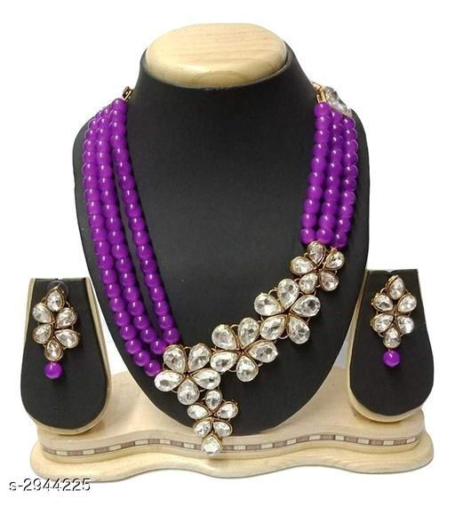 Jewellery Set Elegant Party Wear Alloy Women's Jewellery Set  *Material* Alloy  *Size* Free Size  *Description* It Has 1 Piece Of Chokar Necklace & 1 Pair Of Earring  *Work* Embellished  *Sizes Available* Free Size *    Catalog Name: Diya Elegant Party Wear Alloy Women's Jewellery Sets Vol 5 CatalogID_401221 C77-SC1093 Code: 654-2944225-