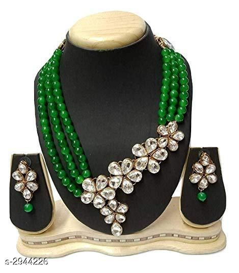 Jewellery Set Elegant Party Wear Alloy Women's Jewellery Set  *Material* Alloy  *Size* Free Size  *Description* It Has 1 Piece Of Chokar Necklace & 1 Pair Of Earring  *Work* Embellished  *Sizes Available* Free Size *    Catalog Name: Diya Elegant Party Wear Alloy Women's Jewellery Sets Vol 5 CatalogID_401221 C77-SC1093 Code: 654-2944226-
