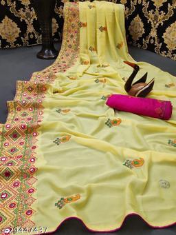 Kasmiri Mirror Designer Saree For Wedding Women