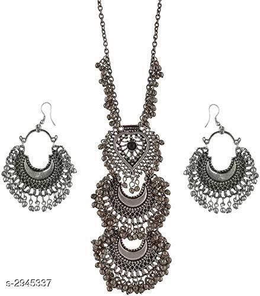 Oxidized German Silver Jewellery Set