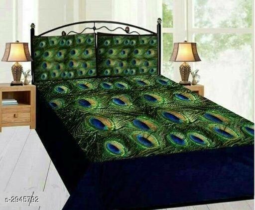 Classic Velvet Printed Double Bedsheet