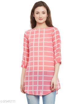 Women's Printed Pink Georgette Top