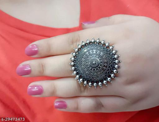 Beautiful Oxidised Adjustable Rings