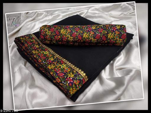 Stylish Marble Chiffon with border saree