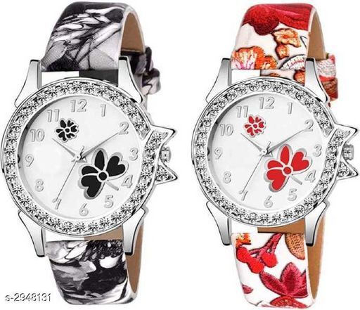 Leather Women's Watches (Pack Of 2 )