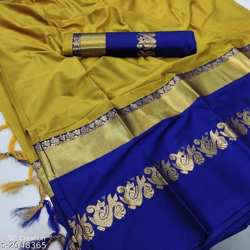Trendy Aura Silk Women's Saree