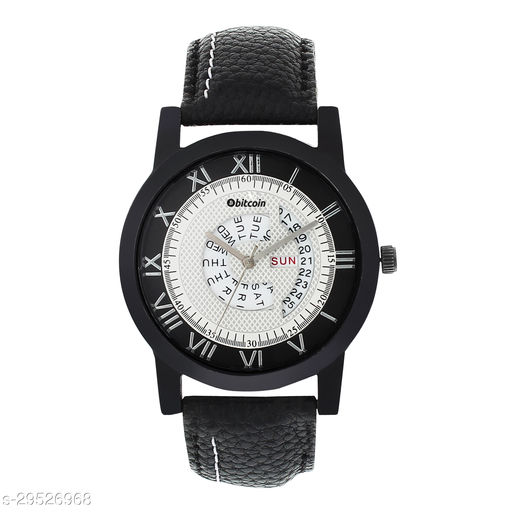 BITCOIN 30626ST13 Wrist Watch For Men With Day & Date Indicator