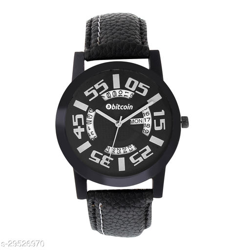 BITCOIN 30622ST13 Wrist Watch For Men With Day & Date Indicator