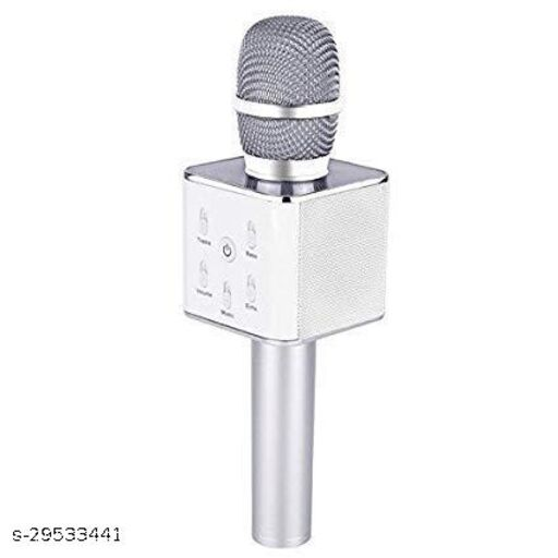 Wireless Karaoke Mic Q7 With Attach Bluetooth Speaker And Echo Function 2600 mAh Battery