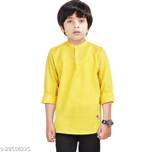 Made In The Shade Boy's Casual Regular Fit Cotton Short Kurta