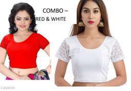 Elegant Trendy Cotton Lycra Hosiery Blouses (Pack Of 2)