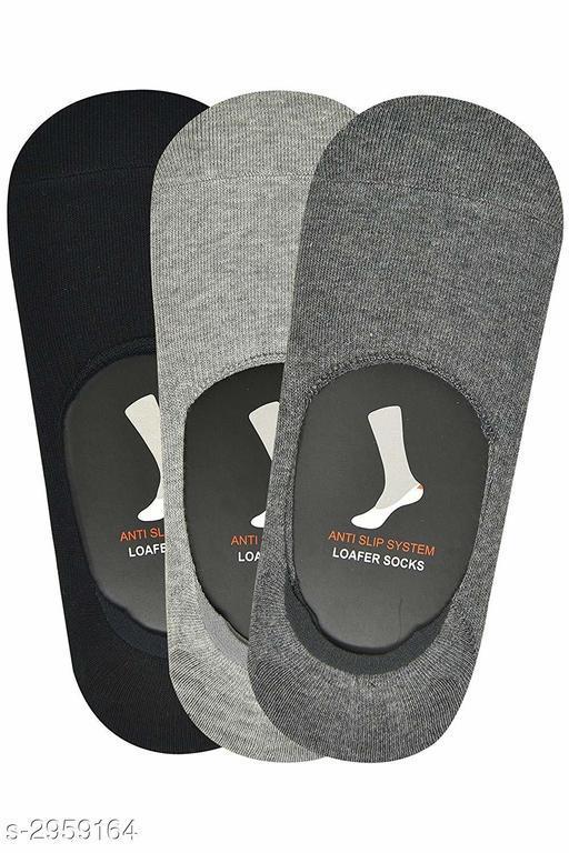 Trendy Men's Cotton Mix Socks (Pack Of 3)